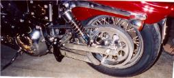 Dyna Wide Glide with new chrome swingarm